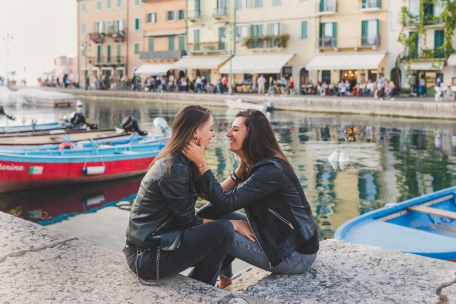servizio fotografico LGBTQ A Lazise lago di Garda