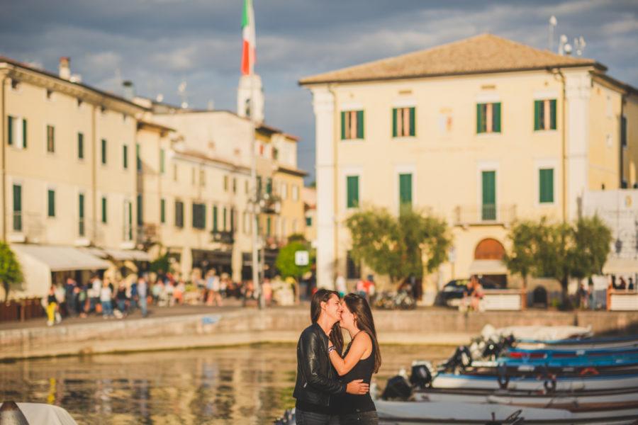LGBTQ photoshoot in Lazise Lake Garda