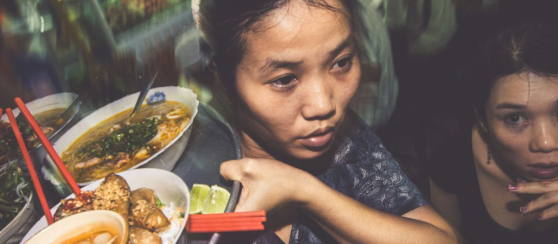 Vietnamese woman delivers great food