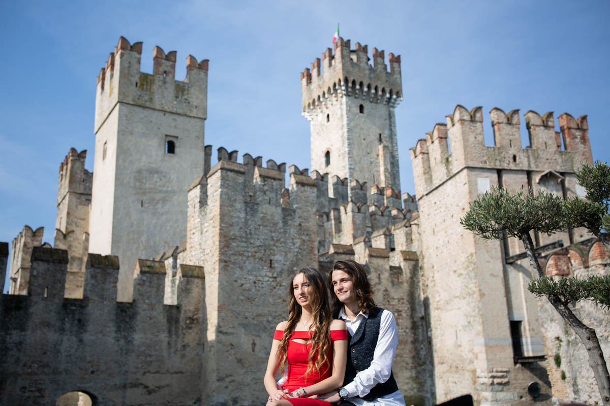 Wedding photographers in Sirmione at Lake Garda, Italy Professional wedding photographer