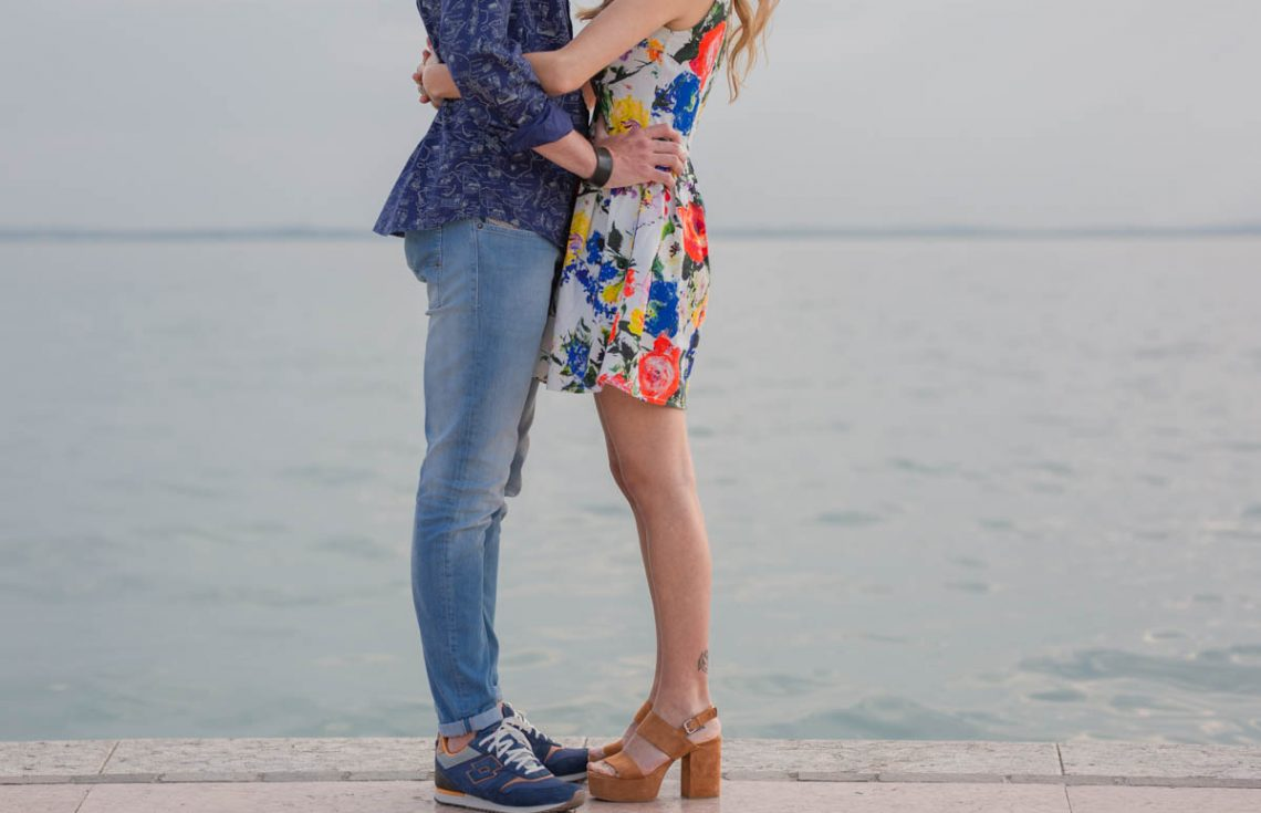 Engagement photo shoot in Lazise