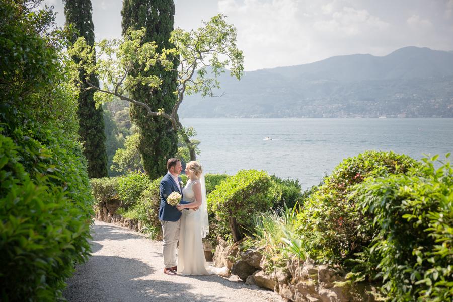 Sposi all'isola del Garda