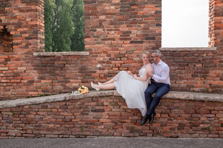 coppia sposi a castelvecchio - Fotografo Matrimonio Verona