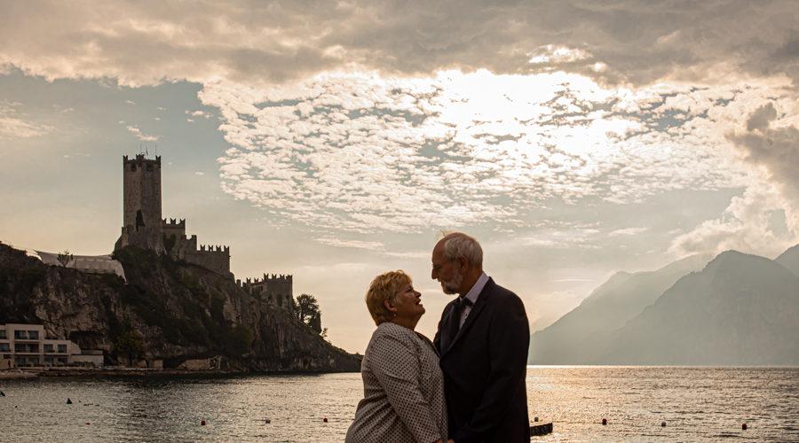 Fotografo personale al castello di Malcesine lago di Garda